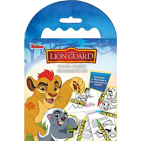 Kit de coloriage transportable La Garde du Roi Lion