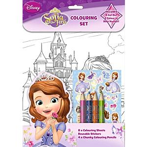 sofia the first colouring set