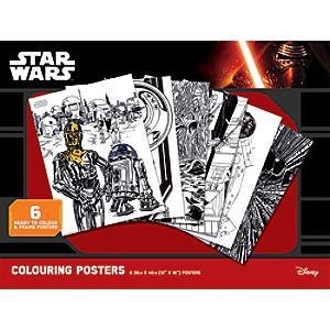 Star Wars plakater til farvelægning, sæt med 6 stk.