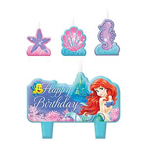 Läs mer om Den lilla sjöjungfrun set med födelsedagsljus