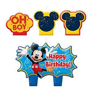Läs mer om Musse Pigg set med födelsedagsljus