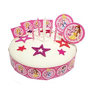 Disney Prinsessor set med tårtdekorationer