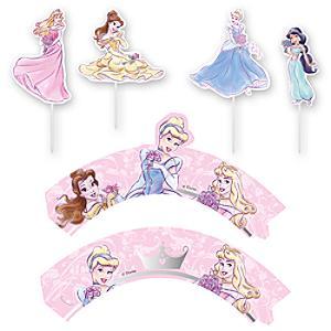 Läs mer om Disney Prinsessor set med muffinsomslag och toppdekoration