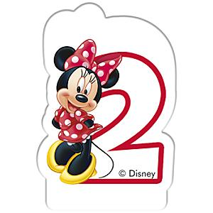 minnie mouse birthday candle, age 2