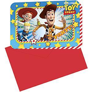 Läs mer om Toy Story 6x inbjudningskort