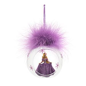 Läs mer om Rapunzel julgranskula med plym, Disneyland Paris