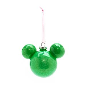 Läs mer om Musse Pigg grön julgranskula, Disneyland Paris