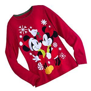 Läs mer om Mimmi och Musse Pigg julpyjamas i vuxenstorlek