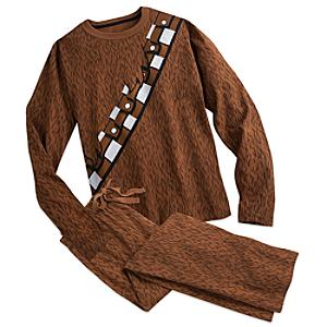 Läs mer om Chewbacca-pyjamaskostym i vuxenstorlek, Star Wars: The Force Awakens