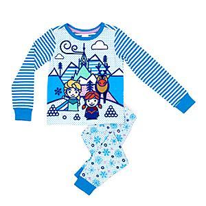 Läs mer om Frost pyjamas med smal passform för barn