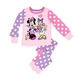 Läs mer om Mimmi Pigg- och Kajsa Anka-pyjamas i barnstorlek