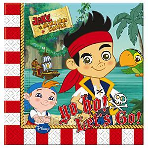 Läs mer om Jake och piraterna i Landet Ingenstans partyservetter, 20-pack