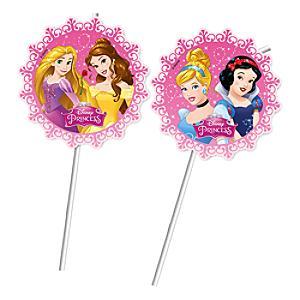 Läs mer om Disney Prinsessor böjbara sugrör, set med 6