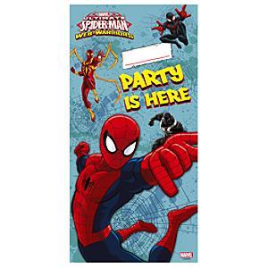 Läs mer om Spiderman dörrbanderoll