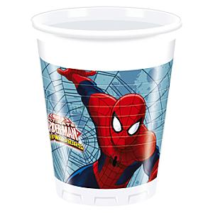 Läs mer om Spiderman partymuggar, set med 8