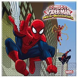 Läs mer om Spiderman partyservetter, 20-pack
