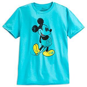 Läs mer om Musse Pigg blå t-shirt i herrstorlek