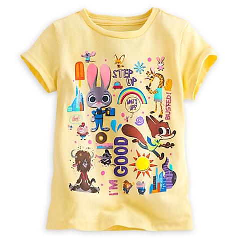 T-shirt Zootopie pour enfants - 5-6 ans