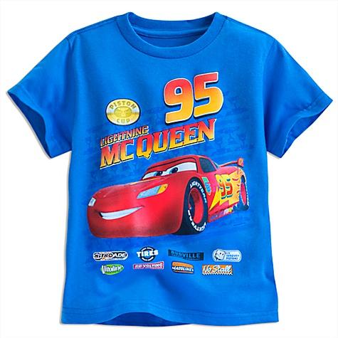 T-shirt Flash McQueen, Disney Pixar Cars pour enfants - 7-8 ans