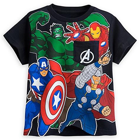 T-shirt Avengers avec poche pour hommes - 5-6 ans