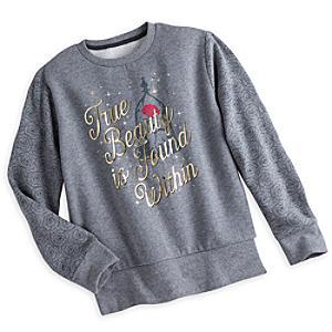 Läs mer om Grå Skönheten och Odjuret sweatshirt (flickor)