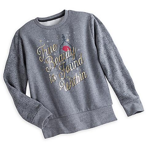 Sweatshirt gris pour femmes La Belle et la Bête - M