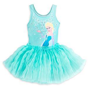 Läs mer om Lyxig Frost-ballerinadräkt i barnstorlek