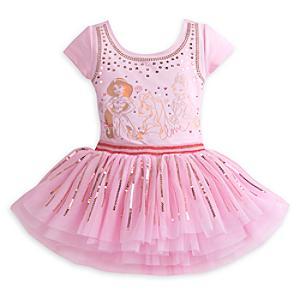 Läs mer om Disney Prinsessor Premium, set med leotard och ballerinakjol för barn