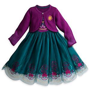 Läs mer om Frost, festklänning och kofta för barn