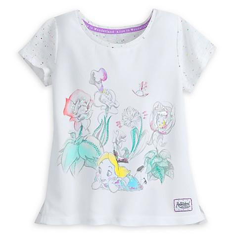 T-Shirt Alice au Pays des Merveilles de la collection Disney Animators pour enfants - 7-8 ans