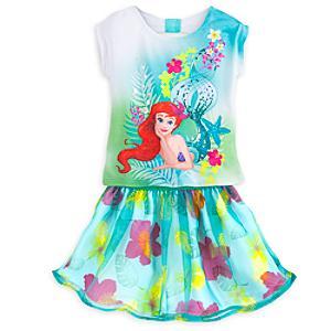 Läs mer om Ariel-set med topp och kjol i barnstorlek