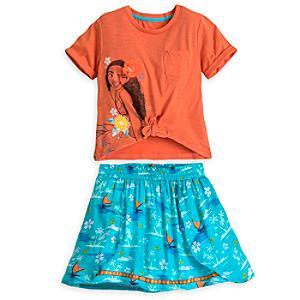 Läs mer om Vaiana-set med topp och kjol