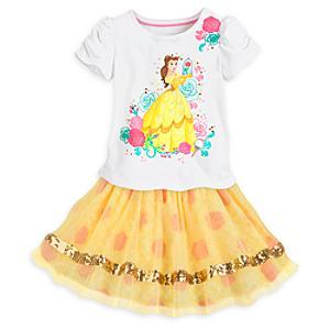 Läs mer om Belle-set med topp och kjol i barnstorlek