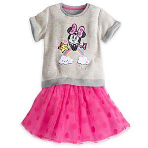 Läs mer om Mimmi Pigg, set med topp och kjol för barn