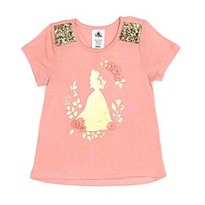 Läs mer om Belle t-shirt för barn, Skönheten och Odjuret