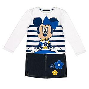 Läs mer om Mimmi Pigg set med topp och kjol för barn