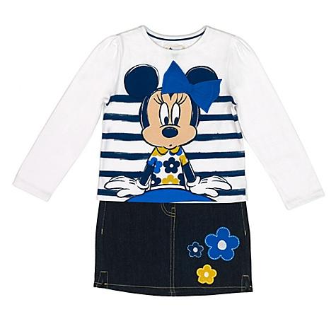 Ensemble haut et jupe pour enfants Minnie Mouse - 5-6 ans