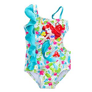Läs mer om Den lilla sjöjungfrun baddräkt för barn