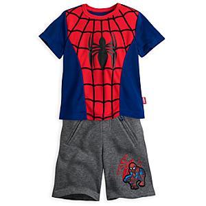 Läs mer om Ultimate Spider-Man-set med t-shirt och shorts i barnstorlek