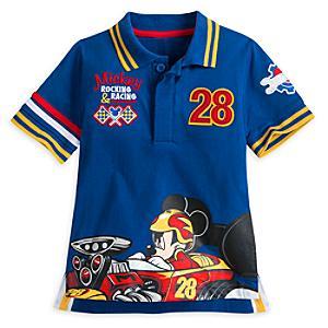 Läs mer om Mickey And The Roadster Racers-pikétröja för barn