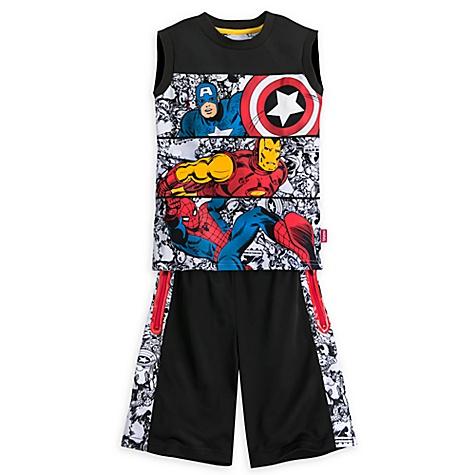 Ensemble haut et short Avengers pour enfants - 7-8 ans