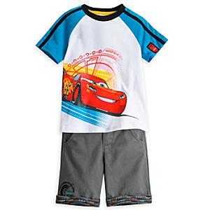 Läs mer om Disney Pixar Bilar 3-set med överdel och shorts för barn