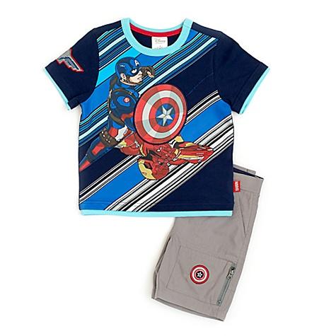 Ensemble t-shirt et short Marvel Avengers Captain America pour enfants - 4 ans