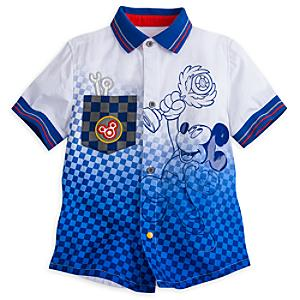 Läs mer om Musse Pigg Racergänget-skjorta i barnstorlek
