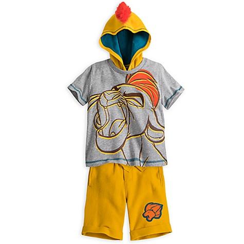 Ensemble short et t-shirt Kion, La Garde du Roi Lion pour enfants - 4 ans