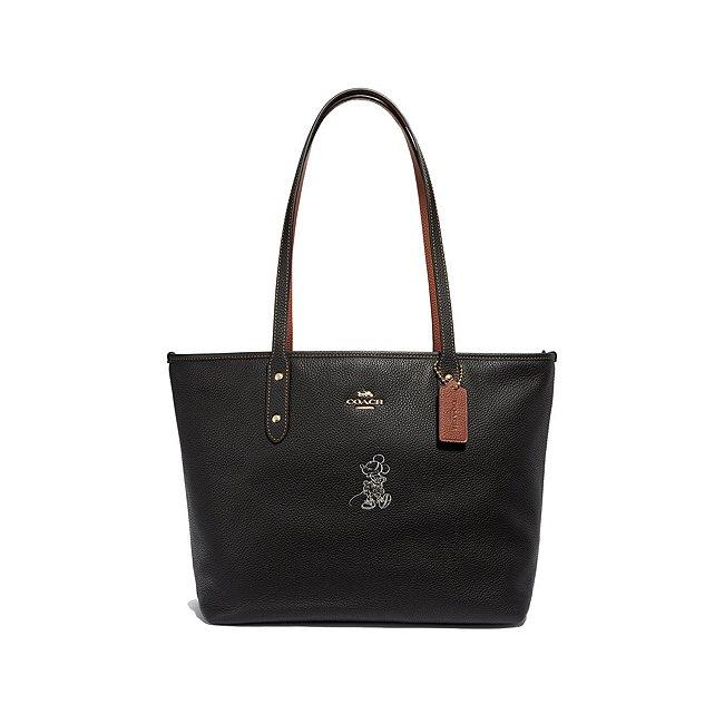 Coach sac fourre-tout noir à motif Minnie Mouse