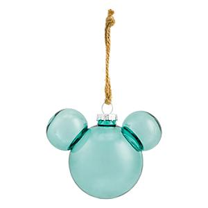 Disneyland Paris Mickey Mouse Icon Glass Bauble - Foret Verte Translucent