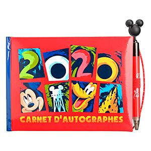 Disneyland Paris Mickey and Friends 2020 Autograph Book and Pen Set