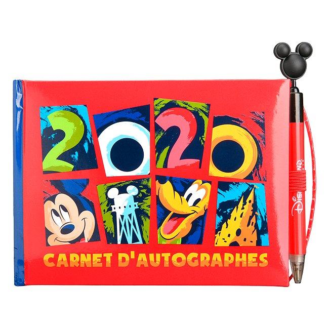 Disneyland Paris carnet d'autographes avec stylo mickey et ses amis 2020