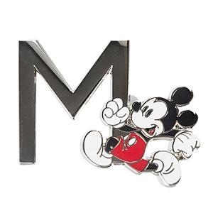 "Disneyland Paris Pin's lettre""M""Mickey Mouse"